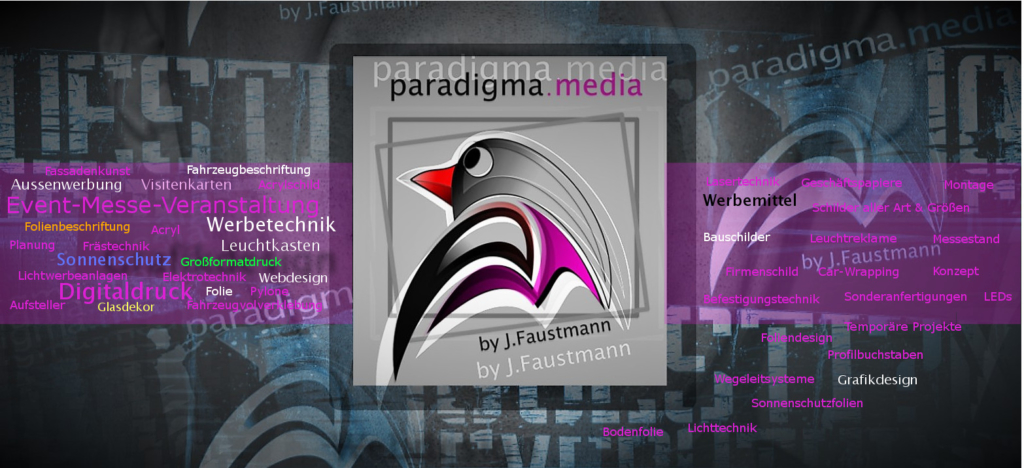 alles rund um Werbung the onley one PARADIGMA.MEDIA by Jan Faustmann