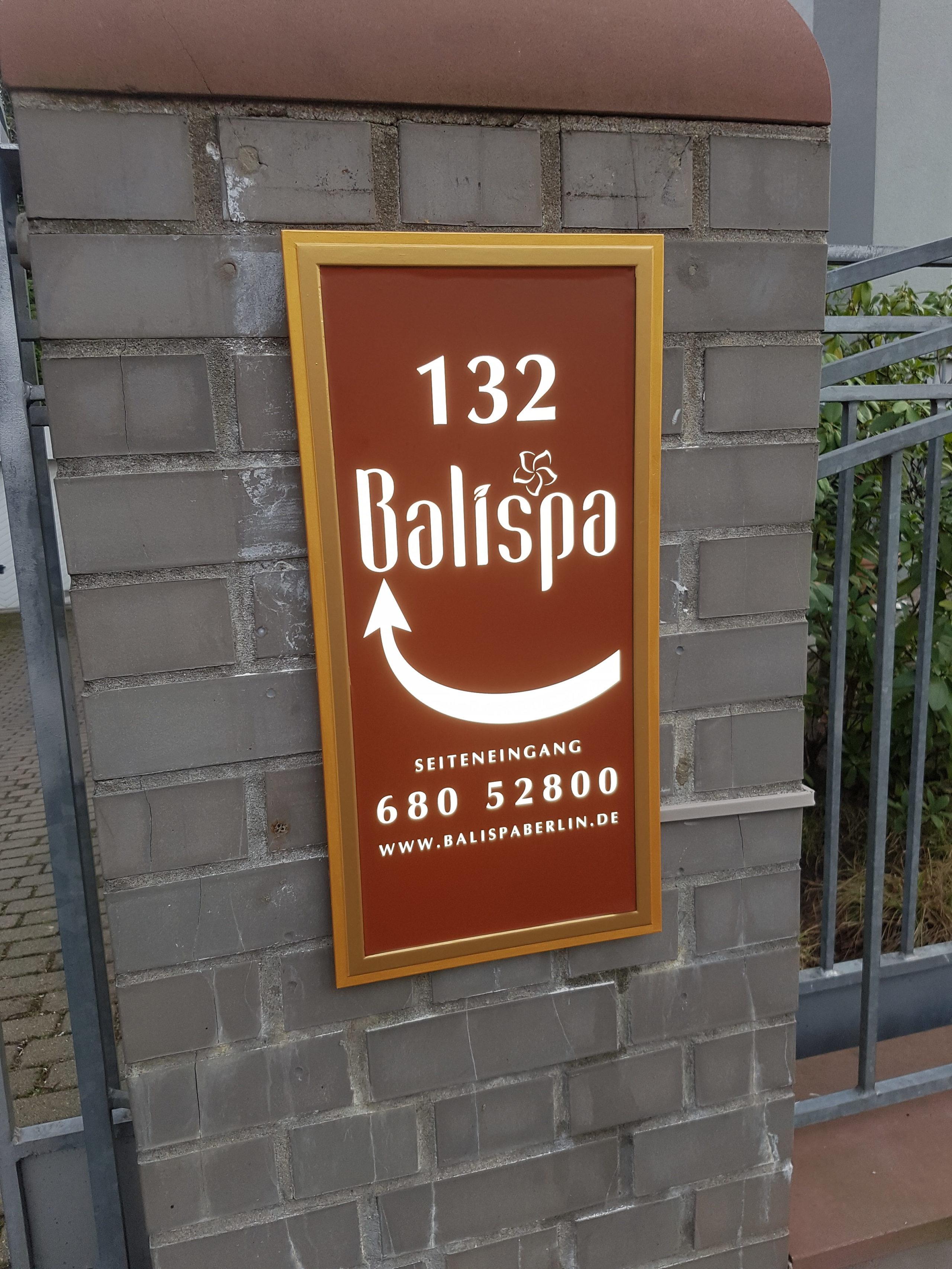 Bali Spa Leuchtschild