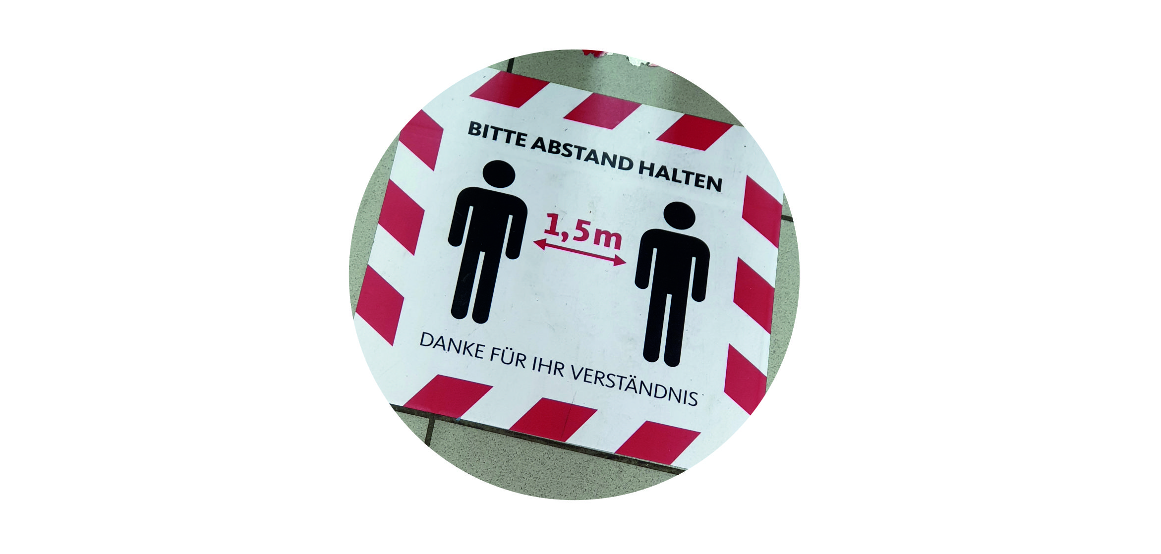 Bodenaufkleber Paradigma.media Werbung Berlin