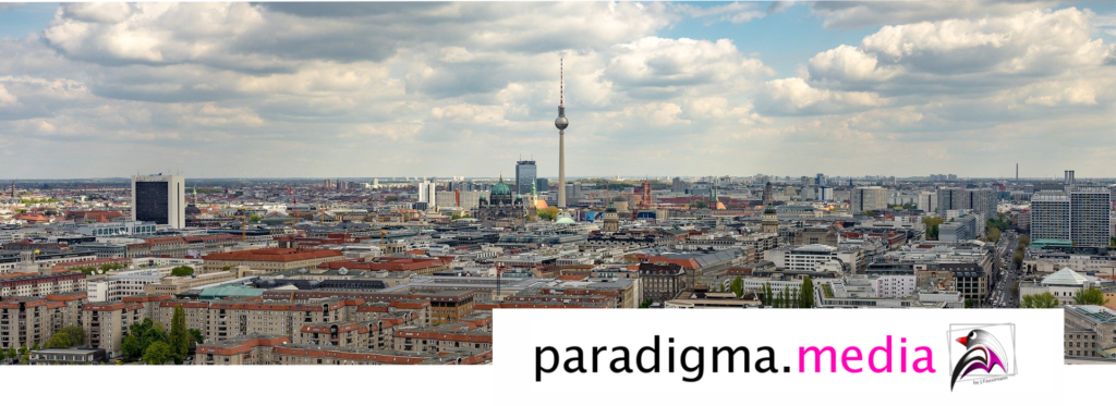 Paradigma.media Werbung Berlin Skyline